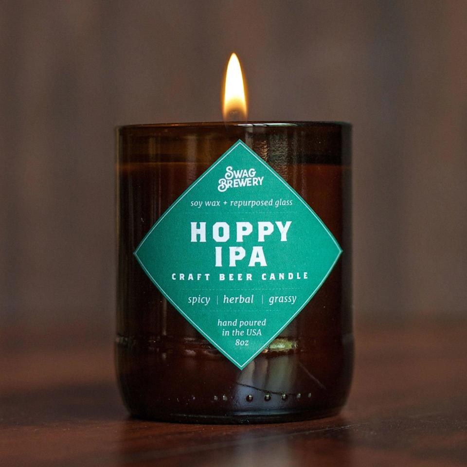 <p>If they truly love beer, they'll absolutely appreciate and get a laugh out of this <span>Hoppy IPA Brew Candle</span> ($20). It has a spicy, herbal, and earthy scent.</p>