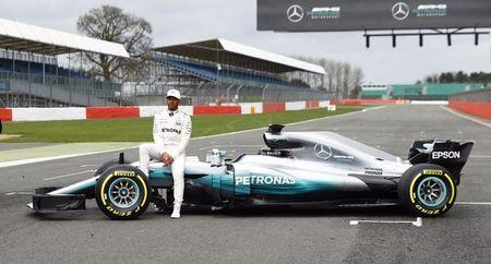 Britain Formula One - F1 - 2017 Mercedes Formula One Car Launch - Silverstone - 23/2/17 Mercedes' Lewis Hamilton poses during the launch Reuters / Eddie Keogh/ Livepic/ Files