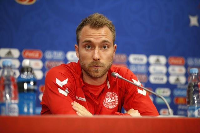 Soccer Football - World Cup - Denmark News Conference - Luzhniki Stadium, Moscow, Russia - June 25, 2018 Denmark's Christian Eriksen during news conference REUTERS/Carl Recine