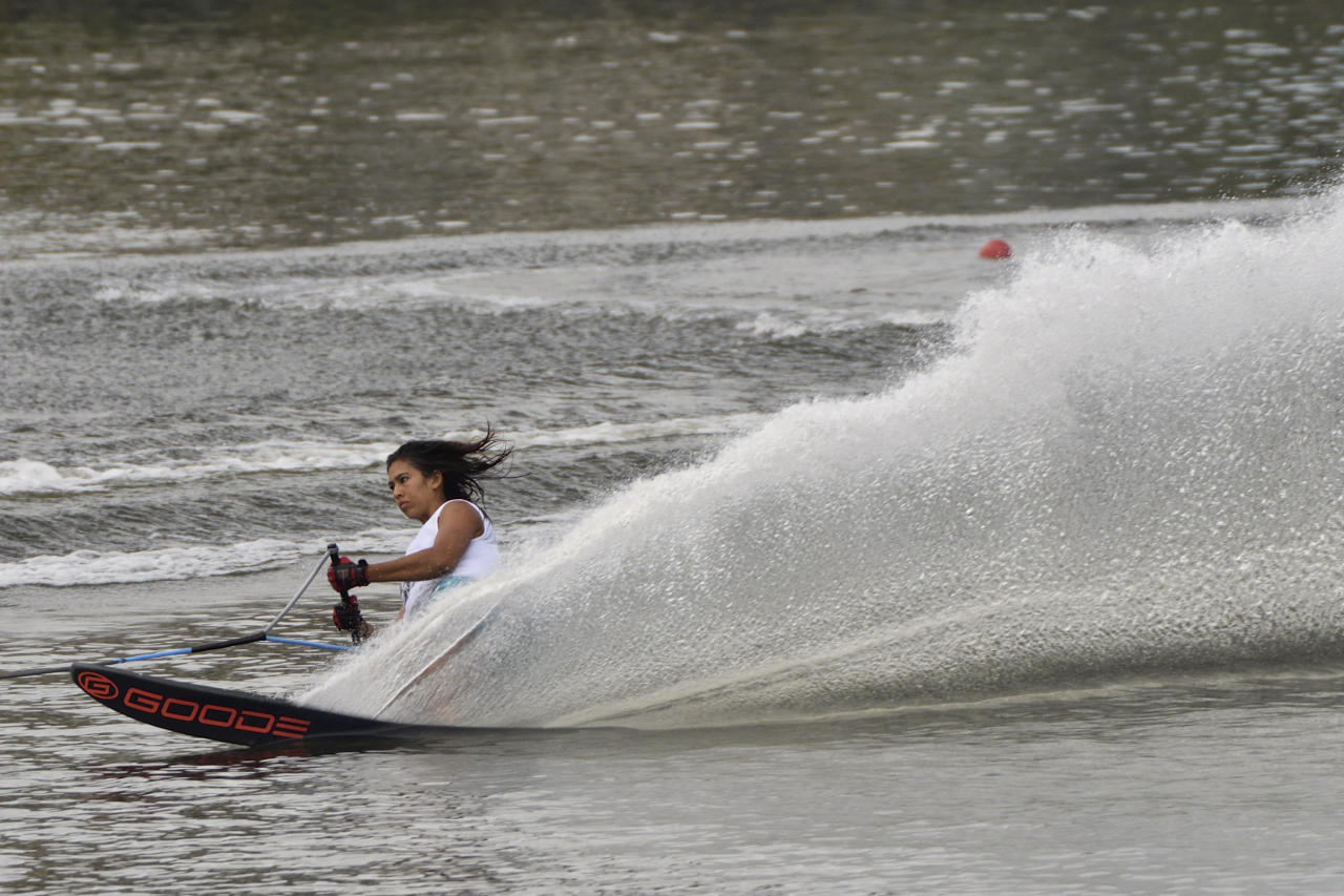 <p>29th SEA Games – Waterski & Wakeboard Ladies Slalom at Kompleks Sukan Air Presint 6, Putra Jaya, Malaysia on 29 Aug 2017. Singapore's Christian Sasha Siew Hoon clinched the gold.<br />(Photo by Samuel Dai/SportSG) </p>