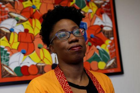 Doctor Omolara Uwemedimo, a pediatrician at Cohen's Children's Medical Center, poses at her office in New Hyde Park, New York, U.S., February 13, 2018. Picture taken February 13, 2018. REUTERS/Shannon Stapleton
