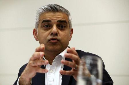 Britain's Labour Party candidate for Mayor of London Sadiq Khan speaks during a hustings event in London