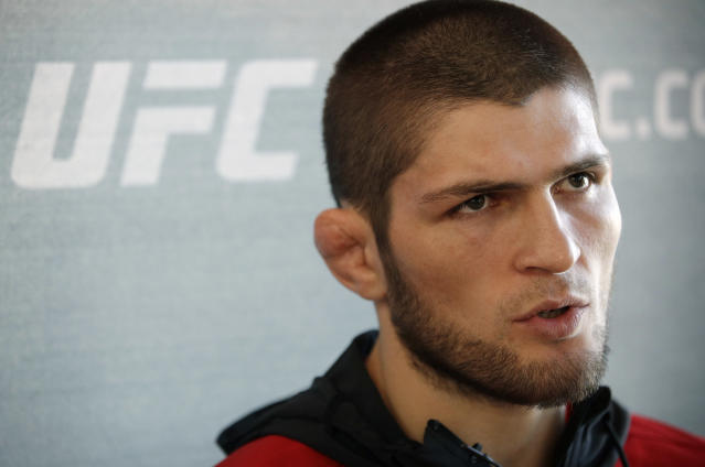 Khabib Nurmagomedov asked to fight Conor McGregor at UFC 223 before Dana White booked Max Holloway. (AP Photo)