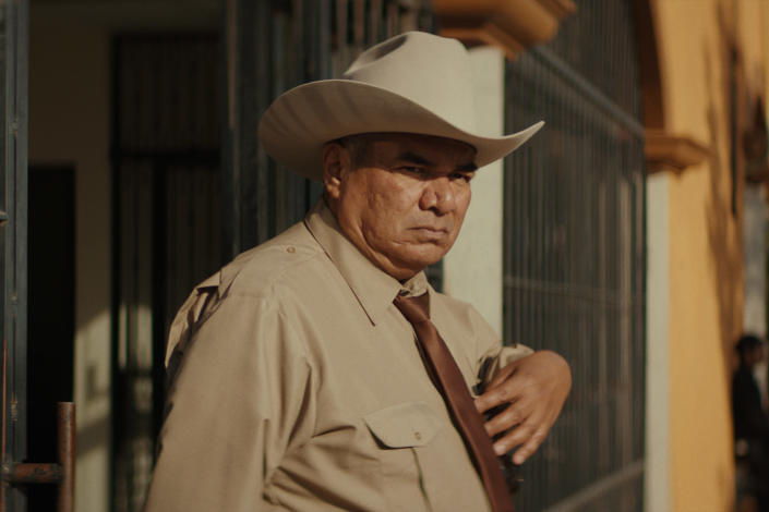 """This image released by IFC Films shows George Lopez in a scene from """"No Man's Land."""" (IFC FIlms via AP)"""