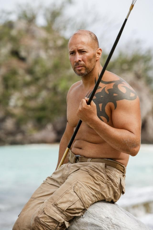 Tony Vlachos on Mana beach during Survivor: Game Changers