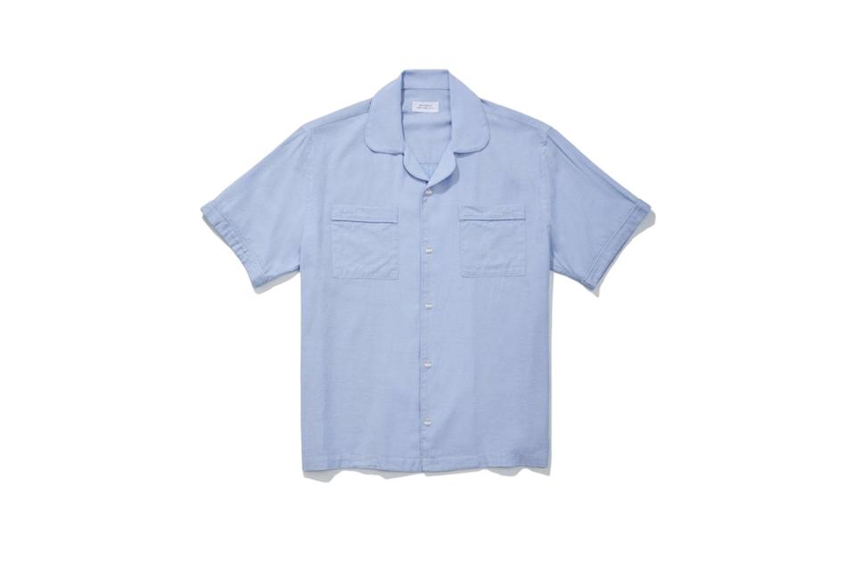 """$165, Saturdays NYC. <a href=""""https://www.saturdaysnyc.com/collections/sale/products/cameron-short-sleeve-shirt?variant=31737116426318"""" rel=""""nofollow noopener"""" target=""""_blank"""" data-ylk=""""slk:Get it now!"""" class=""""link rapid-noclick-resp"""">Get it now!</a>"""