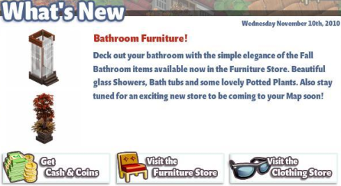 YoVille What's New