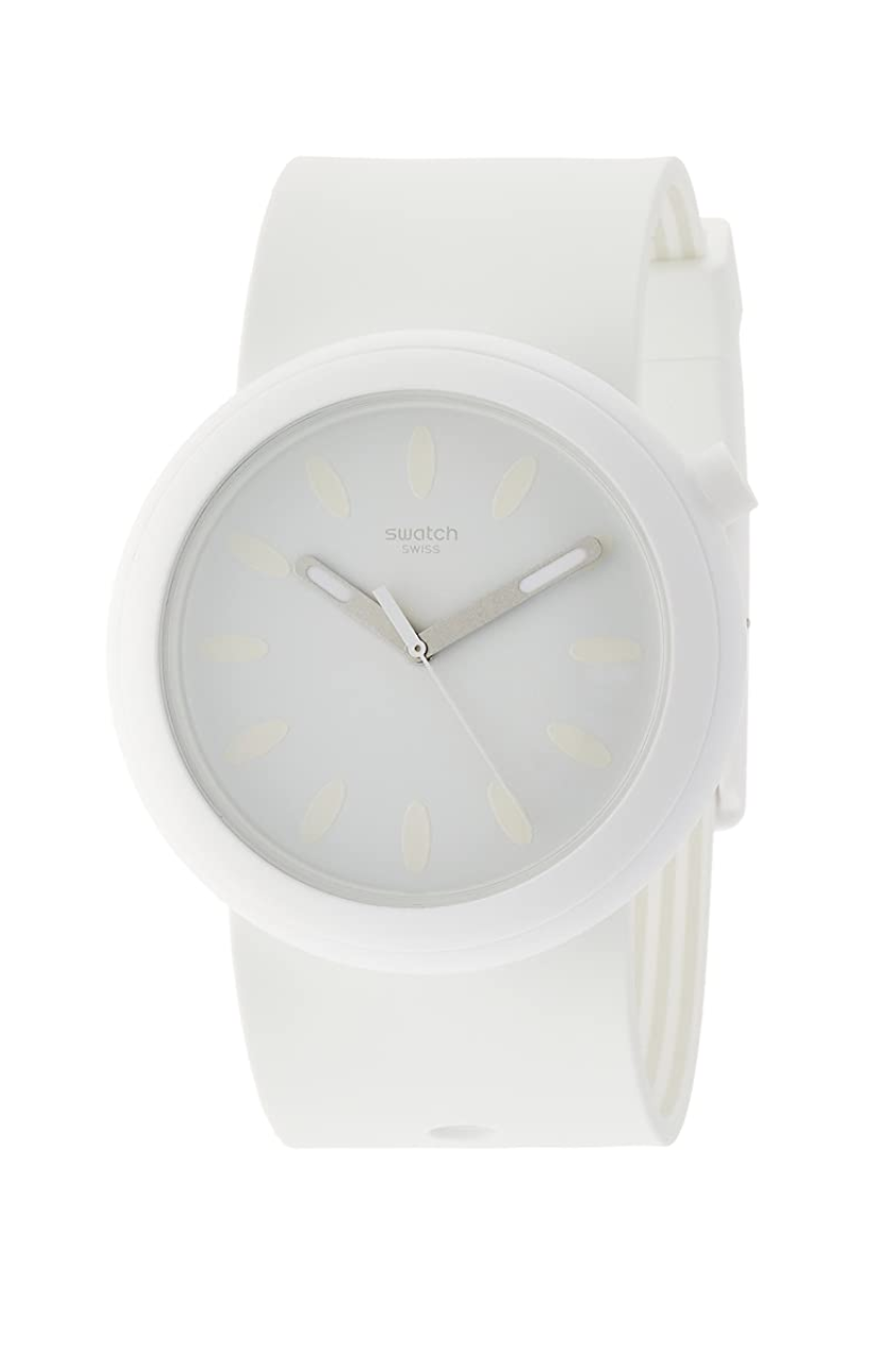 "<p><strong>Swatch</strong></p><p>amazon.com</p><p><strong>$101.00</strong></p><p><a href=""https://www.amazon.com/dp/B073Y6MBNX?tag=syn-yahoo-20&ascsubtag=%5Bartid%7C10058.g.3961%5Bsrc%7Cyahoo-us"" rel=""nofollow noopener"" target=""_blank"" data-ylk=""slk:SHOP IT"" class=""link rapid-noclick-resp"">SHOP IT</a></p><p>Your go-to gym look, this unisex white silicone wrist-piece is the perfect sports watch. </p>"