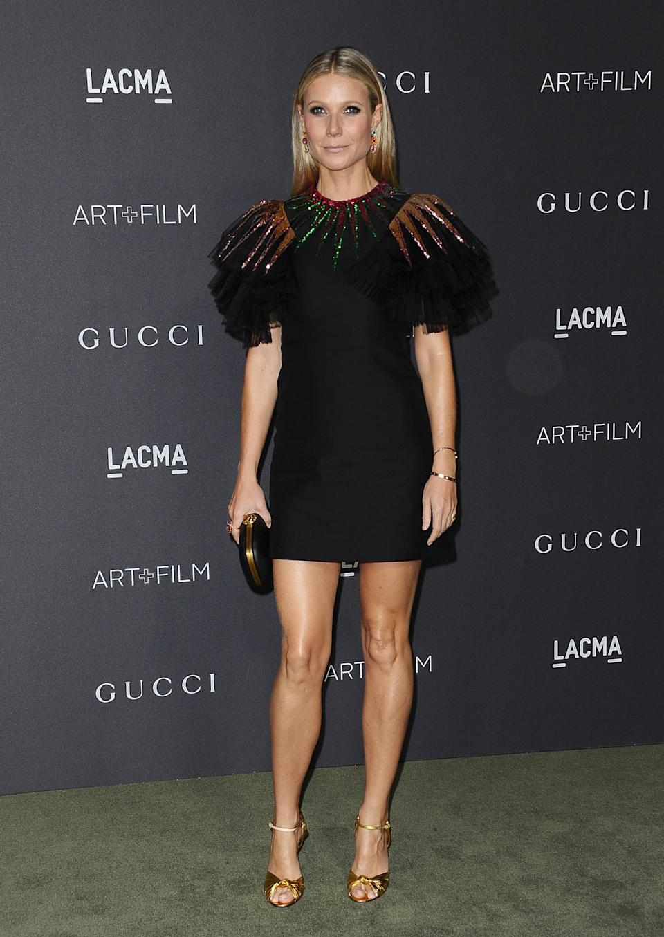 <p>Embellished sleeves add a whole new dimension to a little black dress – just look at Gwyneth's get-up. [Photo: Getty] </p>