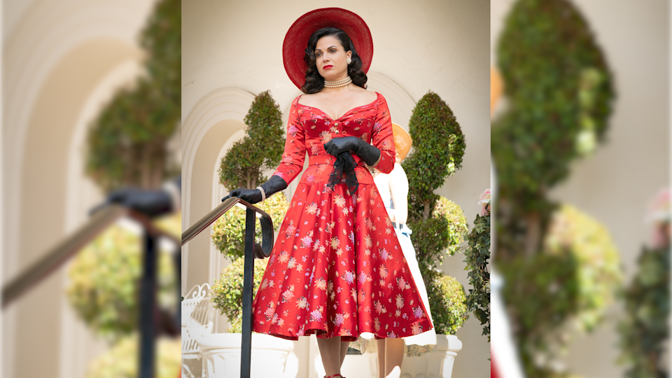 Parrilla reveals she had to wear corsets under the 40s-style dresses she wears on