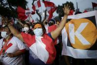 Peruvians await presidential election results, in Lima