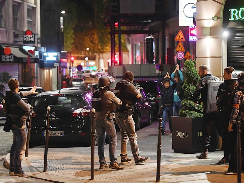 Thursday's terror attack on the Champs Elysees was used by the FN leader to call for widespread deportations and a ban on foreigners entering France: Getty