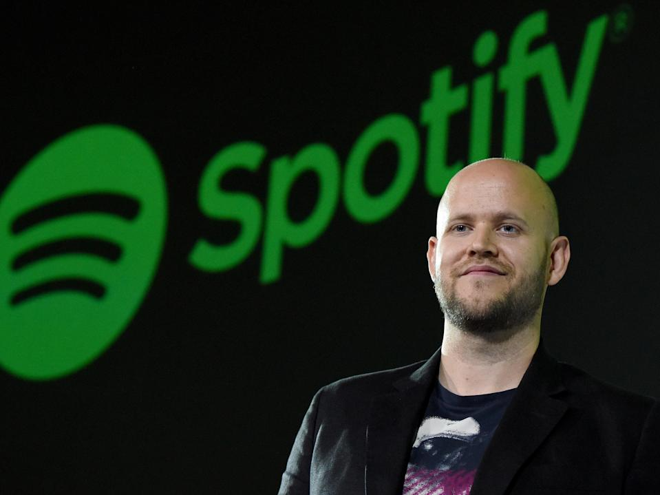 <p>Daniel Ek claims he has made an official bid to buy Arsenal</p> (AFP via Getty Images)