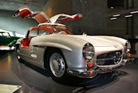 <p>The 300SL, famous for its gullwing doors that opened toward the sky, opens the top 10. Many have hailed the Benz as the world's first supercar.</p>