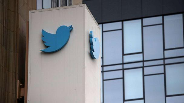 PHOTO: A sign marks the exterior of Twitter's headquarters in San Francisco, July 26, 2018. (Justin Sullivan/Getty Images, FILE)