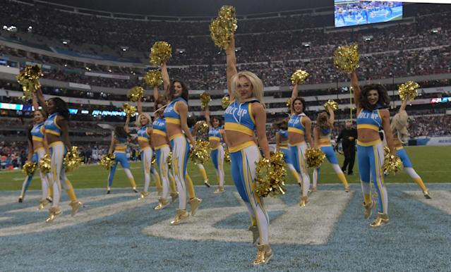 Animadoras de Los Angeles Chargers. Credit: Kirby Lee-USA TODAY Sports