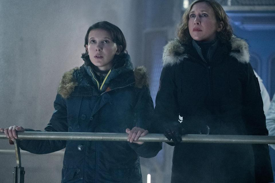 Millie Bobby Brown and Vera Farmiga play mother and daughter in Godzilla: The King of the Monsters