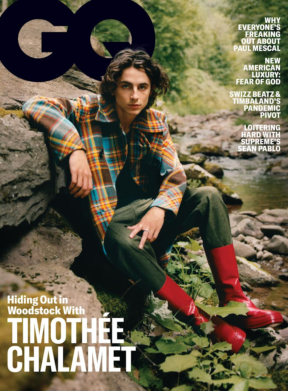 Timothee Chalamet covers the November issue of GQ. (Photo: Rannell Medrano )