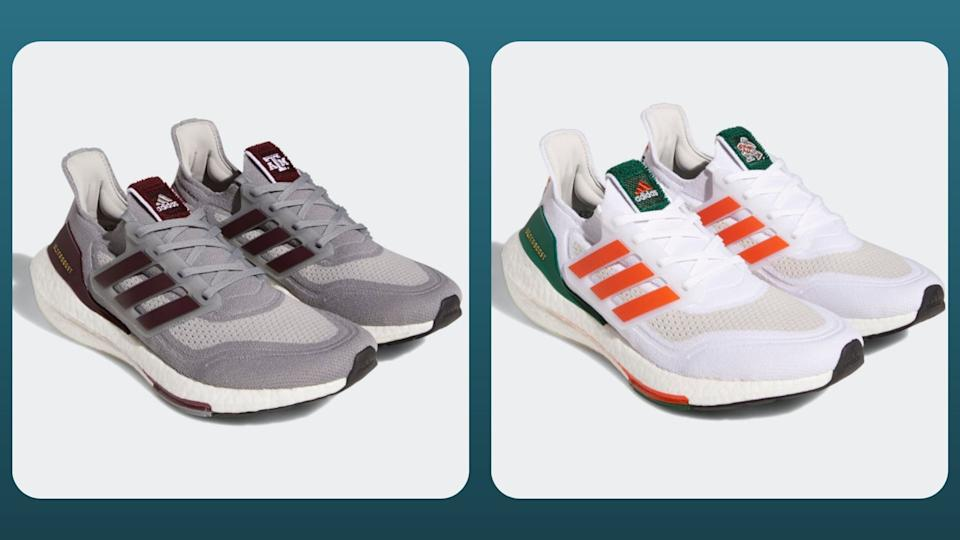 Arizona State, Indiana, Kansas, Louisville, Miami, Mississippi State, Nebraska, NC State, Texas A&M and Washington are the 10 sneakers featured with official illustrations and colors throughout the shoe. (Photo by Adidas)