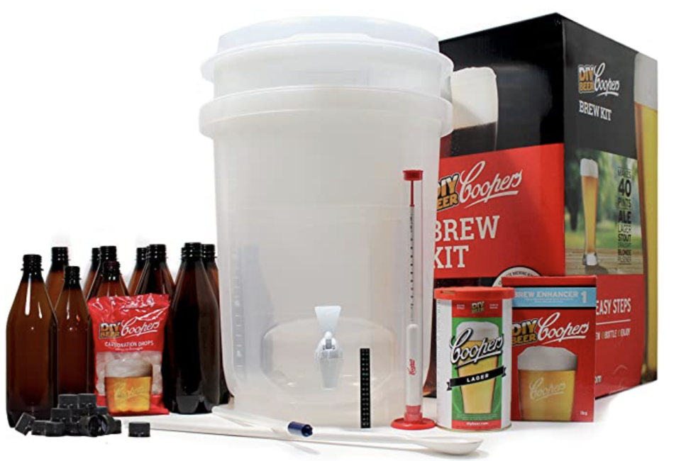 All-Inclusive Craft Beer Making Kit with Patented Brewing Accessories. PHOTO: Amazon