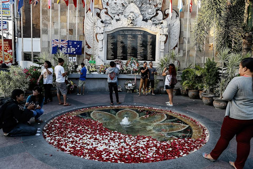<p>File Image: People gather at the Bali Bombing Memorial Monument on 12 October 2013 in Kuta, Bali, Indonesia. People gathered at various memorial ceremonies today to remember the victims of the 2002 Kuta nightclub bombings which killed 202 people</p> (Getty Images)