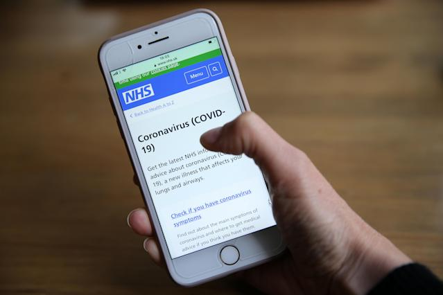 The NHS is set to launch a coronavirus contact tracing app next month. (PA)