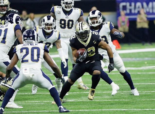 Former New Orleans Saints back Mark Ingram has agreed to join the Ravens. (AP)