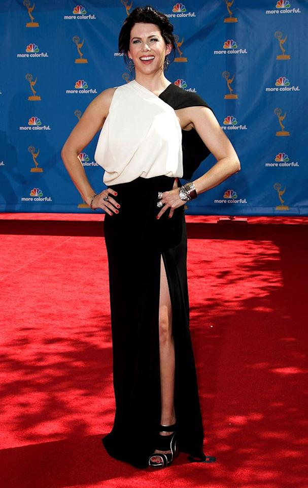 WORST: Lauren Graham at the 62nd Primetime Emmy Awards held at the Nokia Theatre on August 29, 2010, in Los Angeles.