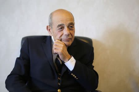 "Vincent ""Buddy"" Cianci, former mayor and current mayoral candidate of Providence, answers a question during an interview with Reuters in his campaign headquarters in Providence"