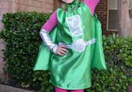 """<p>Make the cute costume and cape, then add pink tights and a tee, and you're done! This Martian/robot girl/superhero costume is ready for action. </p><p><strong>Get the tutorial at <a href=""""https://www.mommyupgrade.com/super-martian-robot-girl-superhero-costume/"""" rel=""""nofollow noopener"""" target=""""_blank"""" data-ylk=""""slk:Mommy Upgrade"""" class=""""link rapid-noclick-resp"""">Mommy Upgrade</a>. </strong></p><p><a class=""""link rapid-noclick-resp"""" href=""""https://www.amazon.com/Plastex-Fabrics-Frisco-Metallic-Silver/dp/B01IIYF4SC/ref=sr_1_10?tag=syn-yahoo-20&ascsubtag=%5Bartid%7C10050.g.28496790%5Bsrc%7Cyahoo-us"""" rel=""""nofollow noopener"""" target=""""_blank"""" data-ylk=""""slk:SHOP SILVER METALLIC FABRIC"""">SHOP SILVER METALLIC FABRIC</a></p>"""