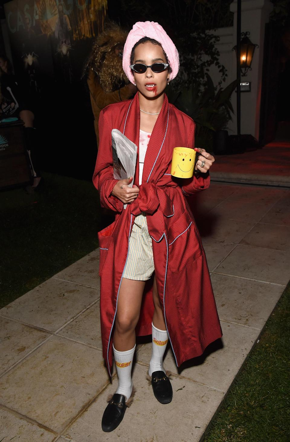 Even a vamp needs her coffee.