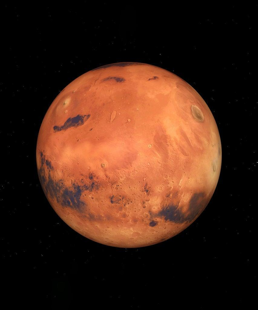 Computer generated 3D illustration with the Mars