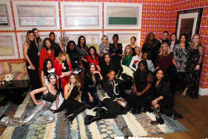 NEW YORK, NEW YORK - FEBRUARY 02: Dinner guests pose after the InStyle Badass Women Dinner Hosted By Taraji P. Henson And Laura Brown on February 02, 2019 in New York City. (Photo by Astrid Stawiarz/Getty Images for InStyle Magazine)   Astrid Stawiarz/Getty Images