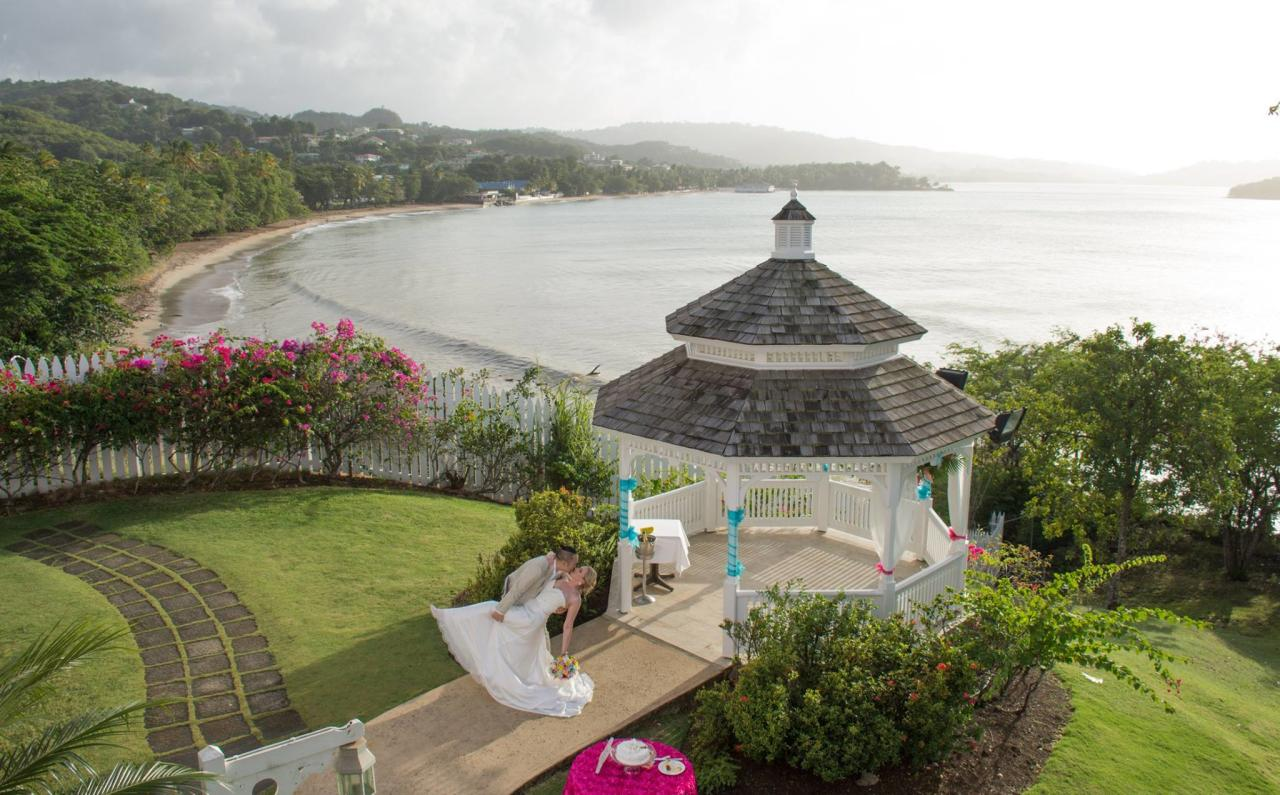 "<p><a rel=""nofollow"" href=""http://luxedestinationweddings.com/collection/st-lucia/"">St. Lucia</a> is a breathtaking place for destination weddings, and places like Pigeon Island and <a rel=""nofollow"" href=""http://www.jademountain.com/cuisine/private_dining.html"">Jade Mountain's Celestial Terrace</a> are among the selections to house intimate ceremonies, complete with picturesque scenery. St. James Club Morgan Bay is a definitive wedding venue with full-service offerings to check out. <em>(Photo of St. James Club Morgan Bay via </em><a rel=""nofollow"" href=""https://www.facebook.com/pg/stjamesclubmorganbay/photos/?tab=album&album_id=568962776451454""><em>Facebook</em></a><em>)</em> </p>"