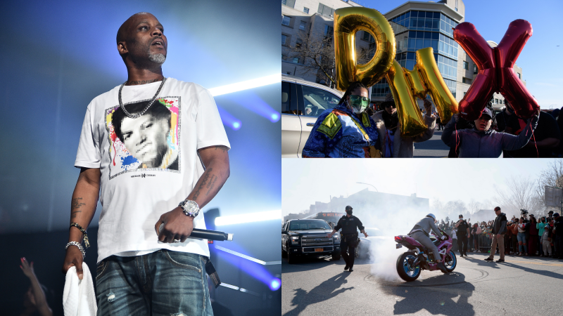 DMX performs at Masters Of Ceremony 2019 on June 28, 2019; Fans of DMX attend a prayer vigil hosted by the Ruff Ryders to the Rescue Foundation on April 5, 2021.