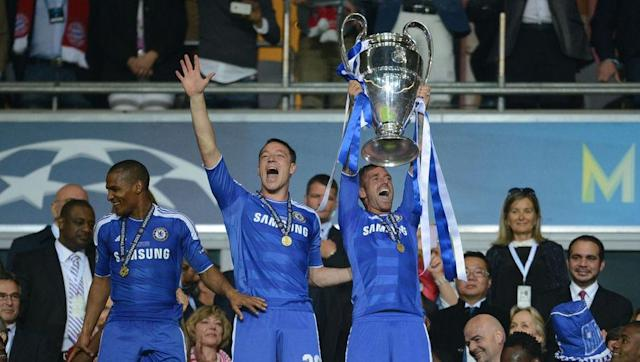 <p>Chelsea beat German giants Bayern Munich in their own back yard in the Champions League final back in 2012. The tensely contested tie went to penalties, and the Blues snatched the famous trophy from the Bavarian's clutches by winning the shootout with 4 conversions to Bayern's 3. </p> <br><p>Terry, who was suspended for the final itself, was still part of his club's celebratory brigade, and despite his absence from participation, took it upon himself to clad himself in a full Chelsea home strip. </p> <br><p>Being a man that embodies everything that Chelsea is fundamentally about, though, it was more than appropriate on a stage which he described as being one of the 'greatest' of his career. </p>