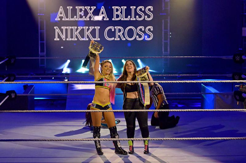 Alexa Bliss and Nikki Cross won the WWE Women's Tag Team Championships. (WWE)
