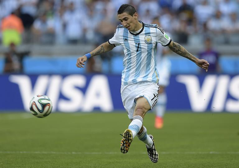 Argentina midfielder Angel Di Maria pictured during the 2014 FIFA World Cup in Brazil on June 21, 2014 (AFP Photo/Juan Mabromata )