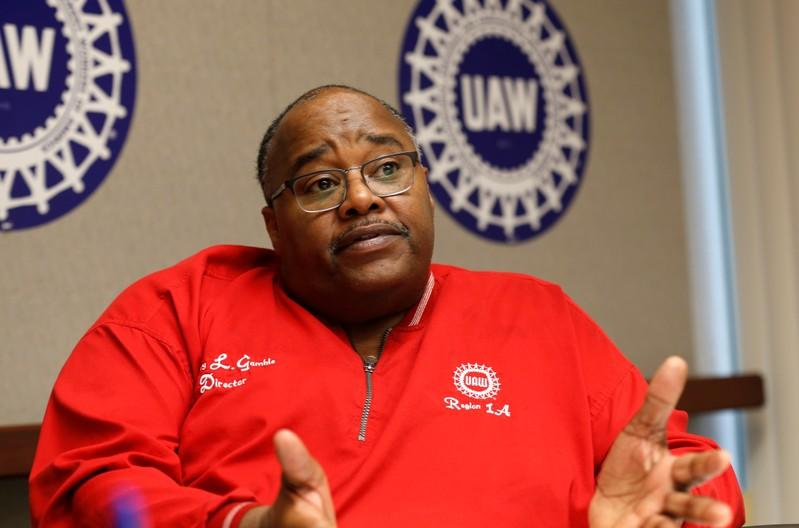 United Auto Workers (UAW) acting president Rory Gamble speaks to Reuters from his office in Southfield, Michigan,