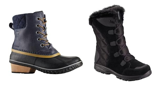 Serious winter boots from Sorel, left, and Columbia. (Photos: Sorel; Columbia)
