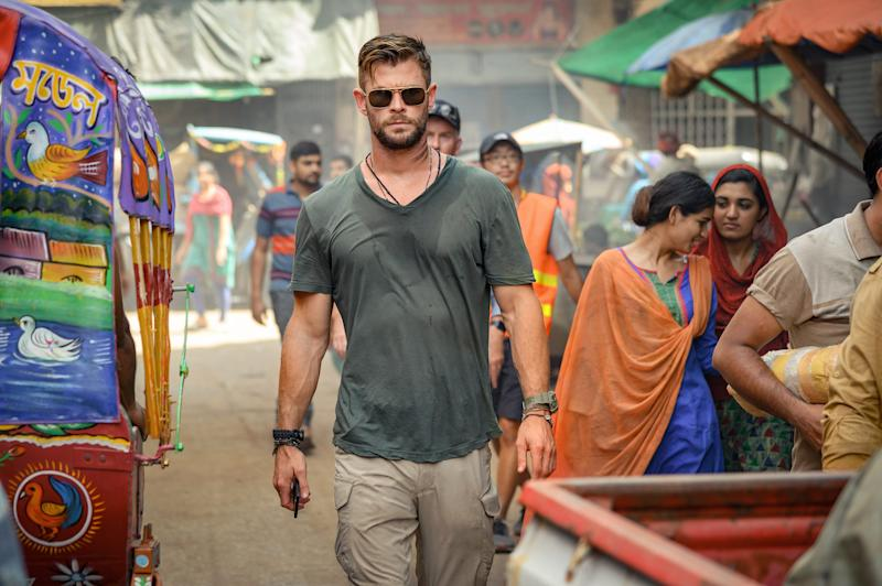 """Chris Hemsworth stars as a black-market mercenary who's on a rescue mission and a path of redemption in the Netflix action movie """"Extraction."""""""