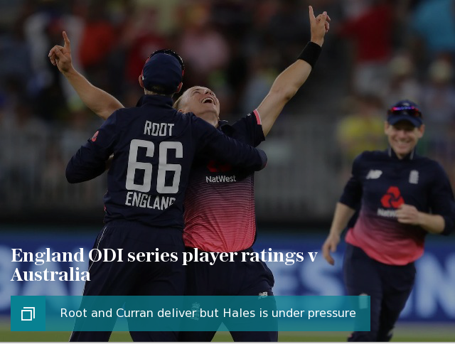 England ODI series player ratings