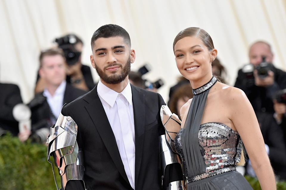 Zayn Malik and Gigi Hadid attend the Met Gala on May 2, 2016 in New York City.