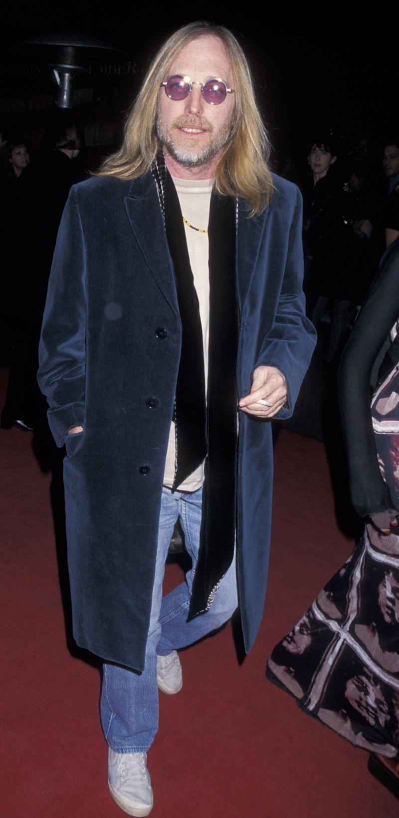 "Attending the world premiere of ""The Postman"" on Dec. 12, 1997 in Burbank, CA."