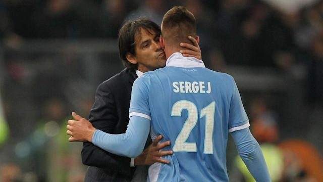 Having scored in a first-leg win as Lazio ended their derby hoodoo against Roma, Sergej Milinkovic-Savic and Ciro Immobile finished the job.