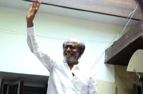 Rajinikanth greets fans outside his residence on Diwali