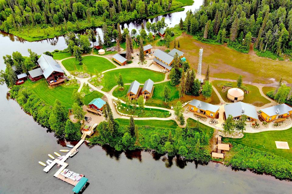 Aerial view of Tordrillo Mountain Lodge