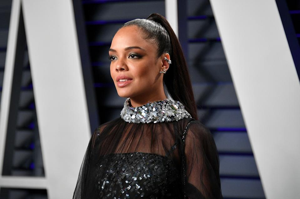 BEVERLY HILLS, CA – FEBRUARY 24: Tessa Thompson attends the 2019 Vanity Fair Oscar Party hosted by Radhika Jones at Wallis Annenberg Center for the Performing Arts on February 24, 2019 in Beverly Hills, California. (Photo by Dia Dipasupil/Getty Images)