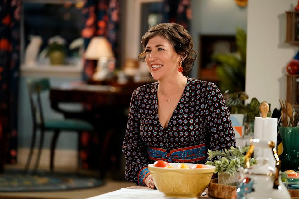 """The Big Bang Theory"" alum Mayim Bialik, pictured in a scene from Fox's ""Call Me Kat,"" has a new podcast, ""Mayim Bialik's Breakdown,"" that explores mental-health issues."