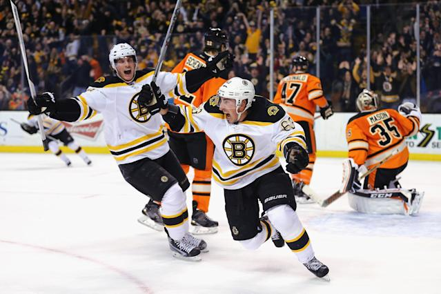 Brad Marchand saves Bruins from bubble burst vs. Flyers